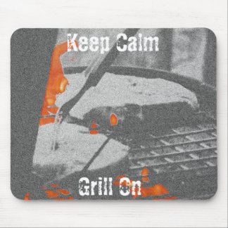 Keep Calm Grill On Mouse Pad