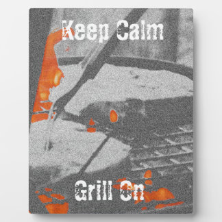 Keep Calm Grill On Plaque