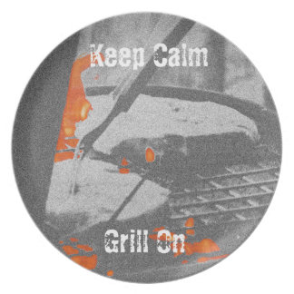 Keep Calm Grill On Plate