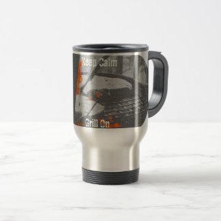 Keep Calm Grill On Travel Mug