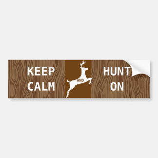 KEEP CALM  HUNT ON BUMPER STICKER