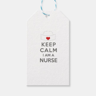 Keep Calm I am a Nurse Gift Tags