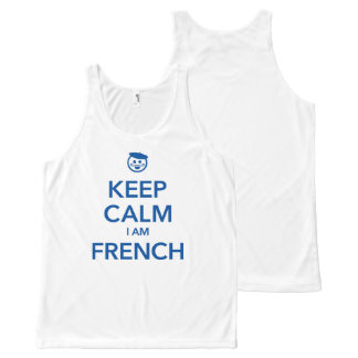 KEEP CALM I AM FRENCH All-Over-Print TANK TOP