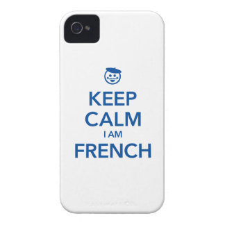 KEEP CALM I AM FRENCH Case-Mate iPhone 4 CASES