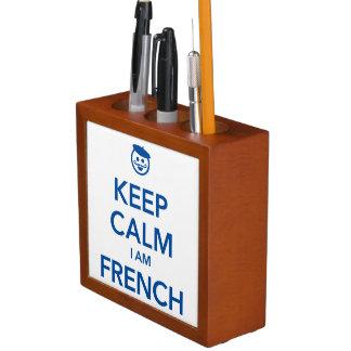 KEEP CALM I AM FRENCH DESK ORGANIZER