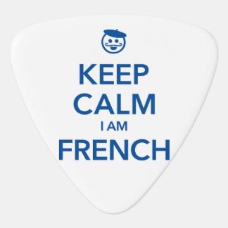 KEEP CALM I AM FRENCH GUITAR PICK