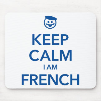 KEEP CALM I AM FRENCH MOUSE PAD
