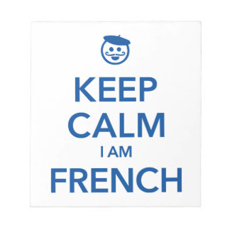 KEEP CALM I AM FRENCH NOTEPAD