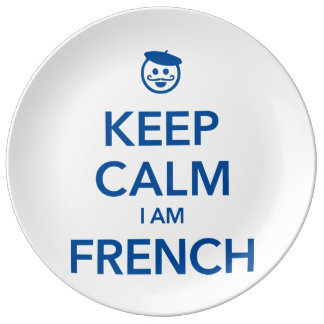 KEEP CALM I AM FRENCH PLATE