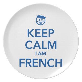 KEEP CALM I AM FRENCH PLATE