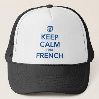 KEEP CALM I AM FRENCH TRUCKER HAT