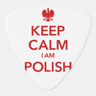 KEEP CALM I AM POLISH GUITAR PICK