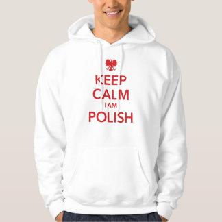 KEEP CALM I AM POLISH HOODIE