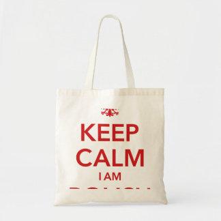 KEEP CALM I AM POLISH TOTE BAG