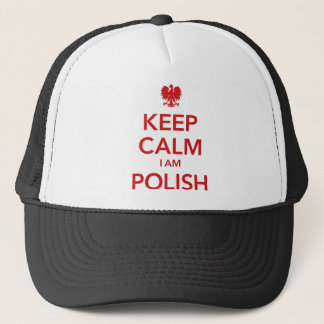 KEEP CALM I AM POLISH TRUCKER HAT