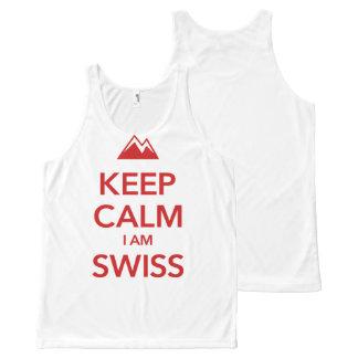 KEEP CALM I AM SWISS All-Over-Print TANK TOP