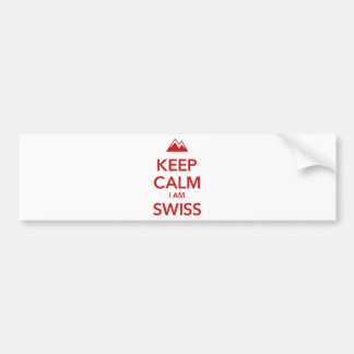 KEEP CALM I AM SWISS BUMPER STICKER