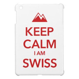 KEEP CALM I AM SWISS iPad MINI CASES