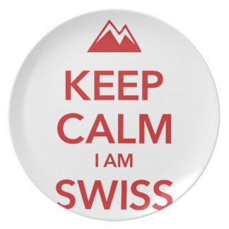 KEEP CALM I AM SWISS PLATE