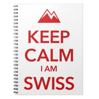 KEEP CALM I AM SWISS SPIRAL NOTEBOOK