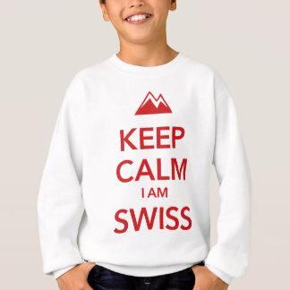 KEEP CALM I AM SWISS SWEATSHIRT
