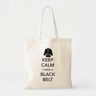 Keep Calm I Have a Black Belt Tote Bag
