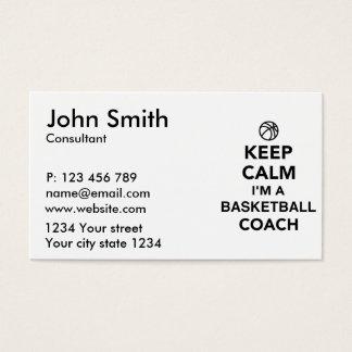 Keep calm I'm a basketball coach Business Card