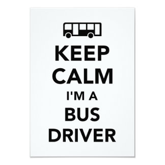 Keep calm I'm a bus driver Card