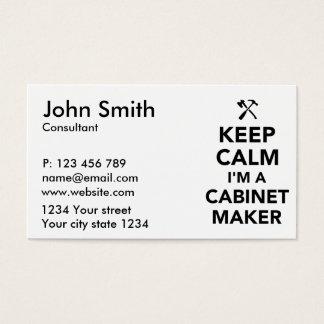 Keep calm I'm a cabinetmaker Business Card