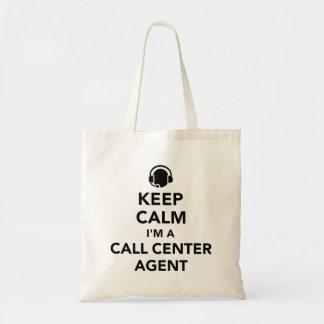 Keep calm I'm a call center agent Tote Bag