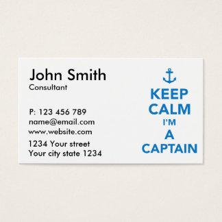 Keep calm I'm a captain Business Card