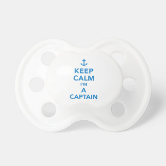 Keep calm I'm a captain Pacifiers
