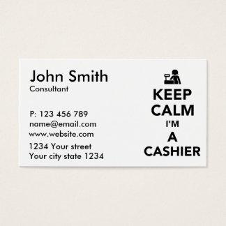 Keep calm I'm a cashier Business Card