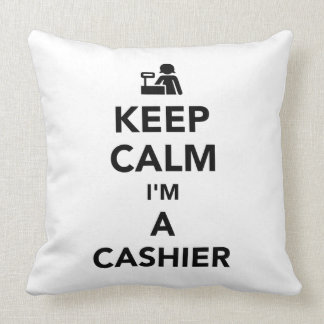 Keep calm I'm a cashier Throw Pillow