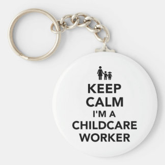 Keep calm I'm a childcare worker Keychain