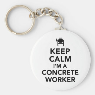 Keep calm I'm a concrete worker Basic Round Button Keychain