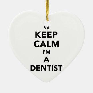 Keep calm I'm a dentist Ceramic Ornament