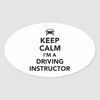 Keep calm I'm a driving instructor Oval Sticker