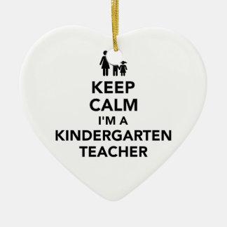 Keep calm I'm a kindergarten teacher Ceramic Ornament
