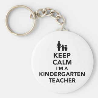 Keep calm I'm a kindergarten teacher Keychain