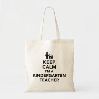 Keep calm I'm a kindergarten teacher Tote Bag