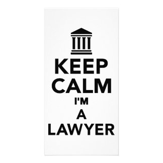 Keep calm I m a lawyer Picture Card