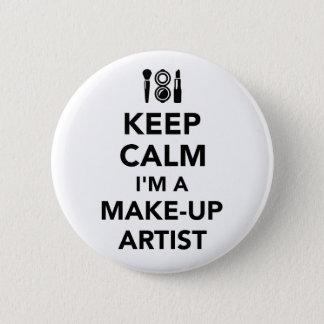 Keep calm I'm a make-up artist 2 Inch Round Button