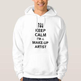Keep calm I'm a make-up artist Hoodie