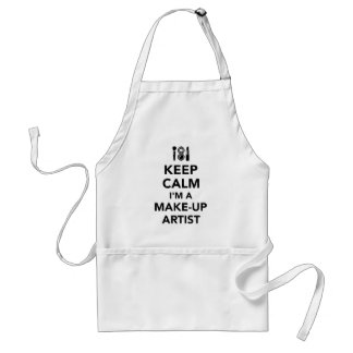 Keep calm I'm a make-up artist Standard Apron