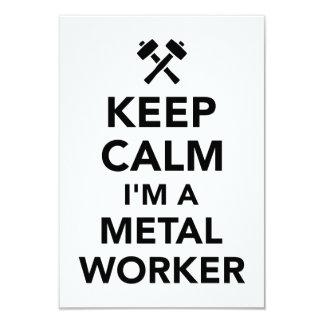 Keep calm I'm a metal worker Card