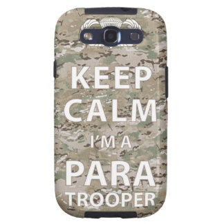 Keep Calm - I m a Paratrooper Galaxy S3 Cases