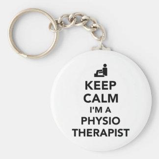 Keep calm I'm a physiotherapist Basic Round Button Keychain