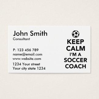 Keep calm I'm a Soccer coach Business Card
