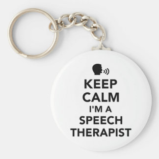 Keep calm I'm a speech therapist Keychain
